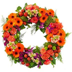 Orange and Purple Wreath