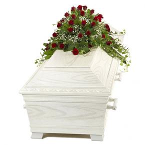 Red Rose and Gypsophylia Half Casket Spray