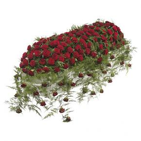 Luxury Red Rose Casket Spray